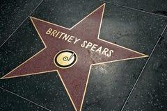 Britney Spears星形 免版税库存图片