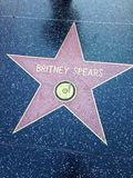 Britney Spears  Hollywood walk of fame star. Stock Photos