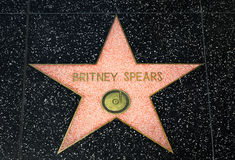 Britney Spears Star on the Hollywood Walk of Fame Royalty Free Stock Photo