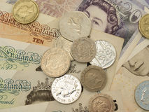 Británicos Sterling Pounds Imagenes de archivo