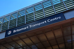 Britomart Train Station sign in Auckland - New Zealand Stock Photography