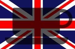 Brits concept De Vlag van Union Jack Stock Afbeelding