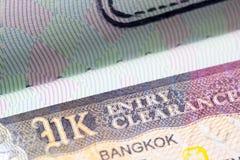 Brits het Verenigd Koninkrijk visum in paspoort Royalty-vrije Stock Foto's