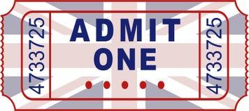Brits kaartje Stock Afbeelding