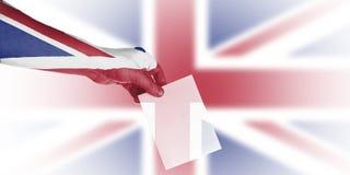 Brits lokaal verkiezingenbehang royalty-vrije stock afbeelding