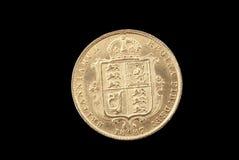 Brits oud gouden muntstuk stock foto's