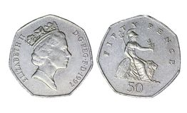 Brits oud muntstuk, jaar 1997 royalty-vrije stock foto