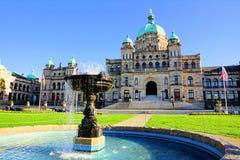 Brits Parlementsgebouw van Colombia provinciaal met fontein royalty-vrije stock foto