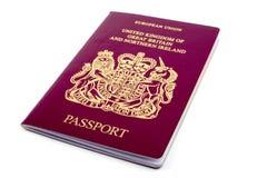 Brits Paspoort Royalty-vrije Stock Foto