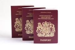 Brits paspoort royalty-vrije stock afbeelding