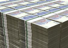 Brits Pond Sterling Notes Bundles Stack Royalty-vrije Stock Foto