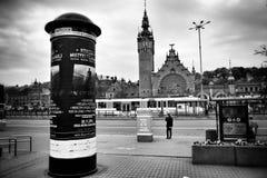 Brits Station Artistiek kijk in zwart-wit Royalty-vrije Stock Foto's