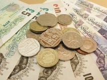 Brits Sterling Pounds Royalty-vrije Stock Afbeeldingen