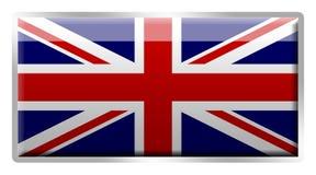 Brits Union Jack geëmailleerde metaalkenteken Stock Foto's
