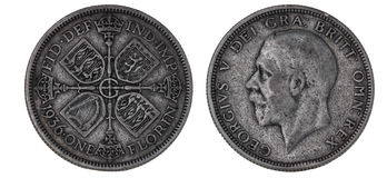 Brits zilveren muntstuk royalty-vrije stock fotografie