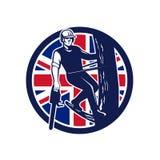 Britse Arborist Union Jack Flag Icon Royalty-vrije Stock Afbeelding