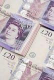 Britse bankbiljettenpond Sterling Royalty-vrije Stock Foto's
