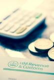 2016 Britse Belastingaangifteherinnering Stock Foto