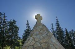 Britse Doiran-Begraafplaats dichtbij vilage Doirani, van Griekenland en Dojran-Meer Royalty-vrije Stock Afbeelding