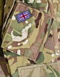 Britse eenvormige legermilitairen Stock Foto's