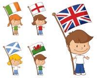 Britse en Ierland-Vlaggen Stock Fotografie