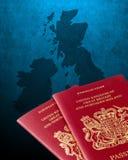 Britse en van Ierland kaart Royalty-vrije Stock Afbeelding