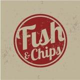 Britse fast-food - vis met patat Vector Illustratie