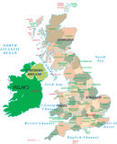Britse geïsoleerde. kaart. Royalty-vrije Stock Fotografie