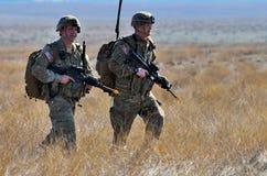 Britse infanterie in militaire veelhoek Stock Afbeelding