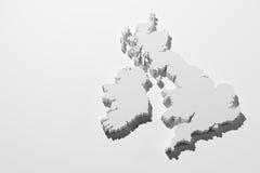 Britse kaart Royalty-vrije Stock Foto's