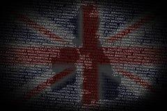 Britse kaart van tekst Royalty-vrije Stock Afbeeldingen