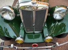 Britse Klassieke auto MG T stock afbeeldingen