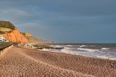 Britse kustscène stock foto's