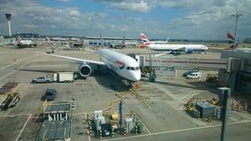 Britse luchtroutes 787 Boeing dreamliner Royalty-vrije Stock Fotografie