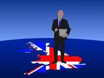 Britse mens met laptop Stock Foto