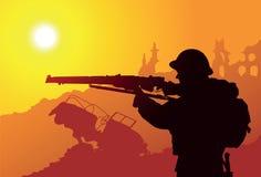 Britse Militair stock illustratie