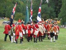 Britse Militairen die weg marcheren Royalty-vrije Stock Foto