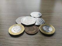 Britse muntstukken stock afbeelding