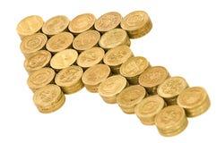 Britse muntstukken Stock Foto