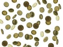Britse muntstukken Stock Afbeeldingen