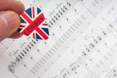 Britse muziekachtergrond Royalty-vrije Stock Foto's
