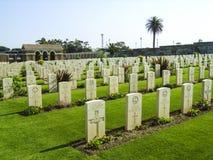Britse Oorlogsgraven in Anzio-Begraafplaats, soth van Rome, Italië royalty-vrije stock afbeeldingen