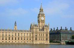 Britse Parlementsgebouwen Royalty-vrije Stock Foto's