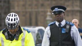 Britse politieagenten Royalty-vrije Stock Foto
