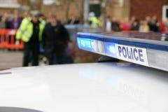 Britse politiewagen bij incident, royalty-vrije stock foto's