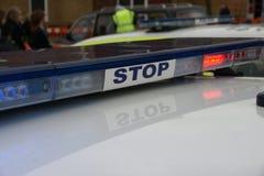 Britse politiewagen bij incident, royalty-vrije stock fotografie
