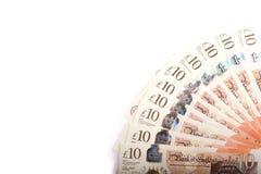 Britse 10 ponden Royalty-vrije Stock Foto's