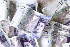 Britse 20 ponden Stock Foto