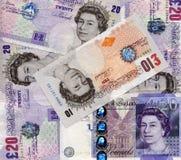 Britse Ponden Royalty-vrije Stock Afbeeldingen