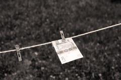 Britse Ponden bankbiljetten met wasknijpers Royalty-vrije Stock Afbeelding